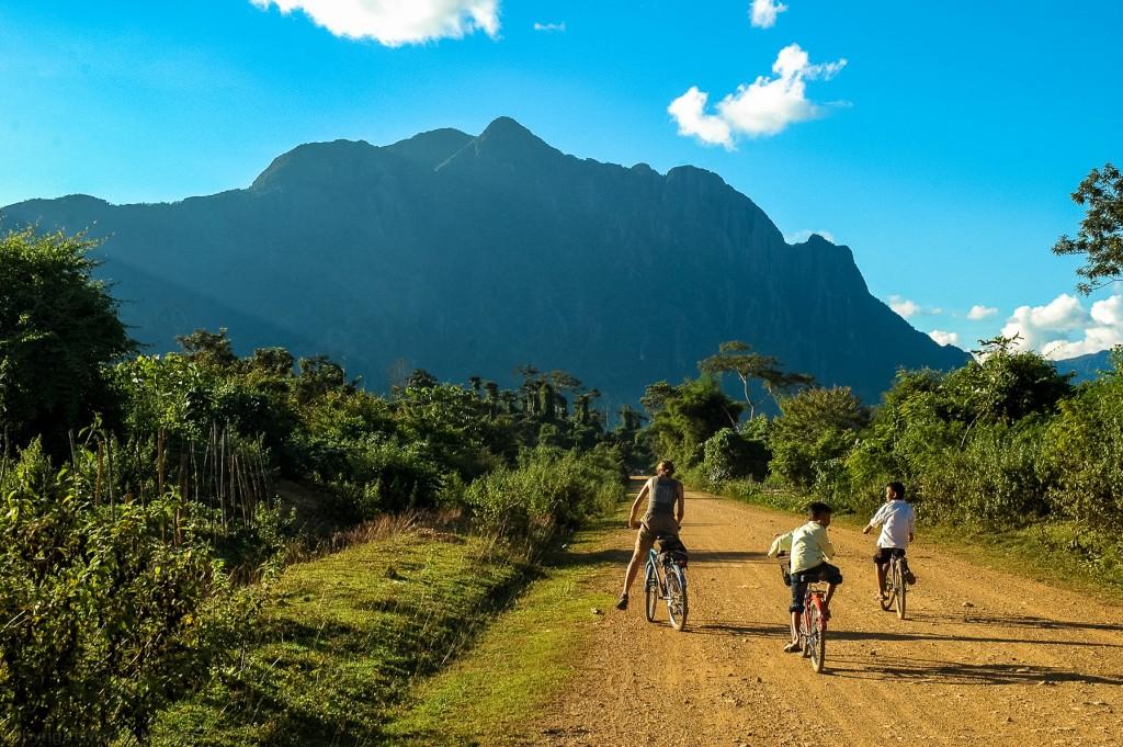 Laos na rowerach