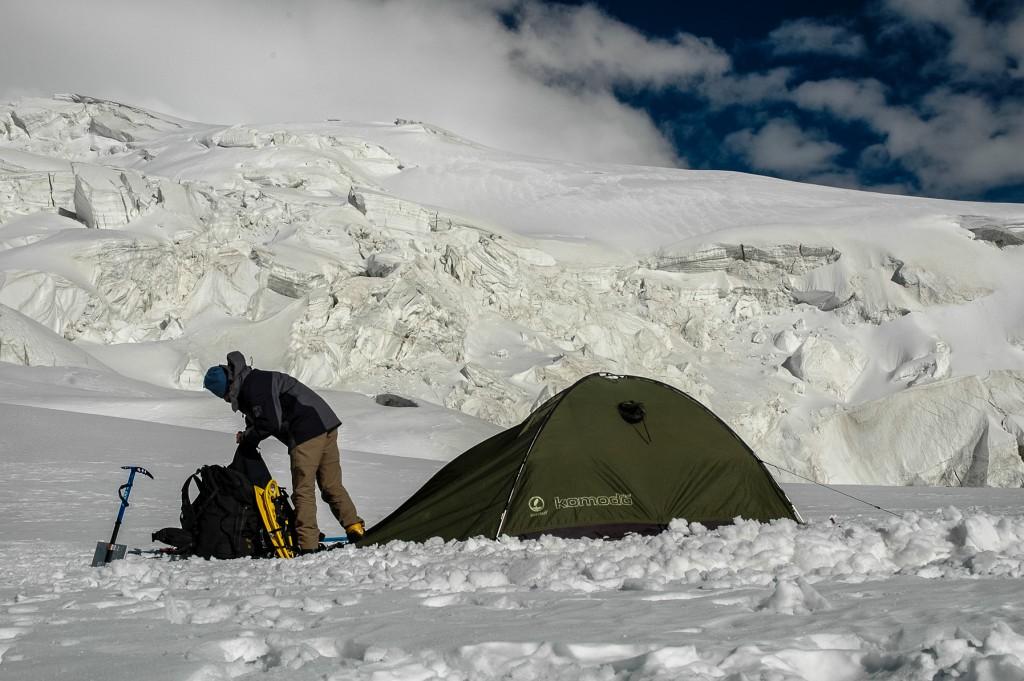 Muztagata, I obóz, 5600 m n.p.m.