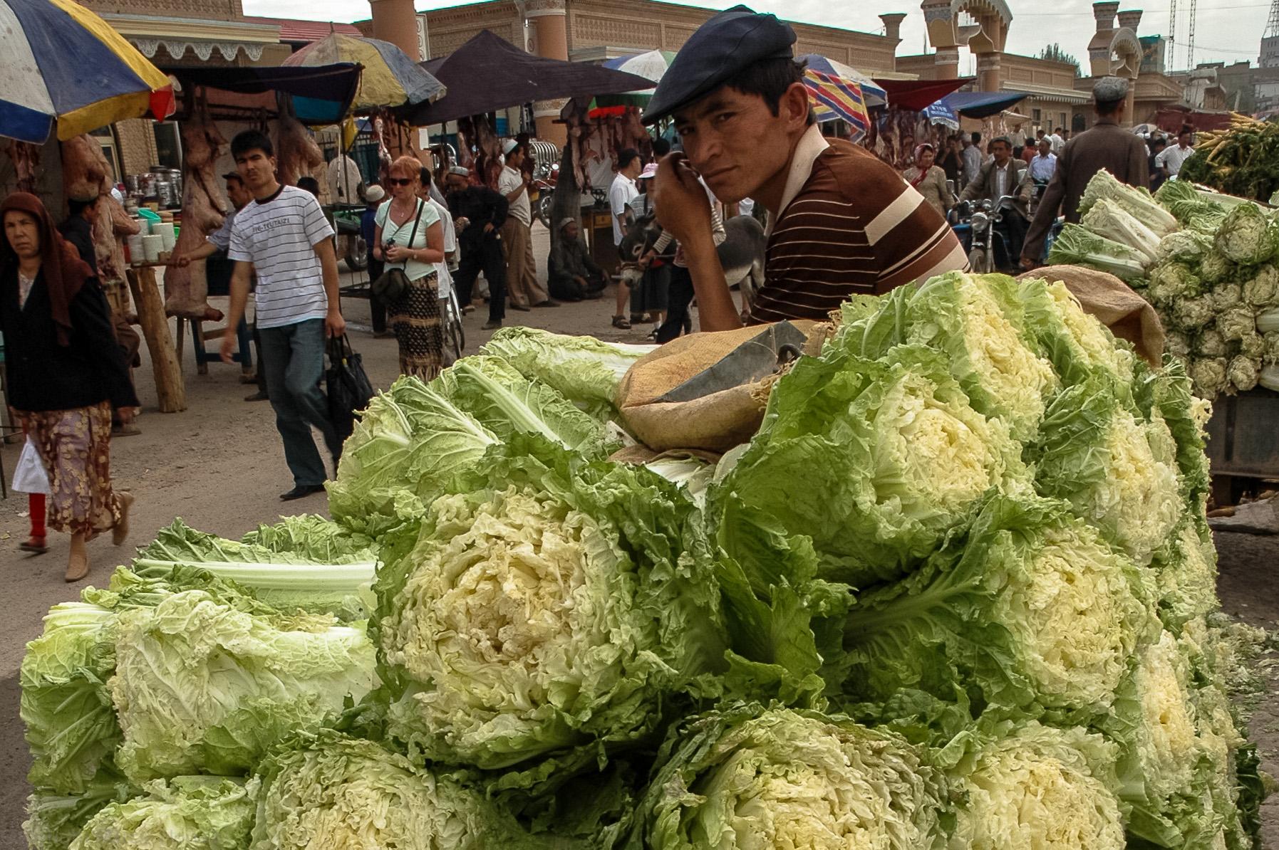 Kapusta pekińska w Kaszgarze - 3400 km od Pekinu
