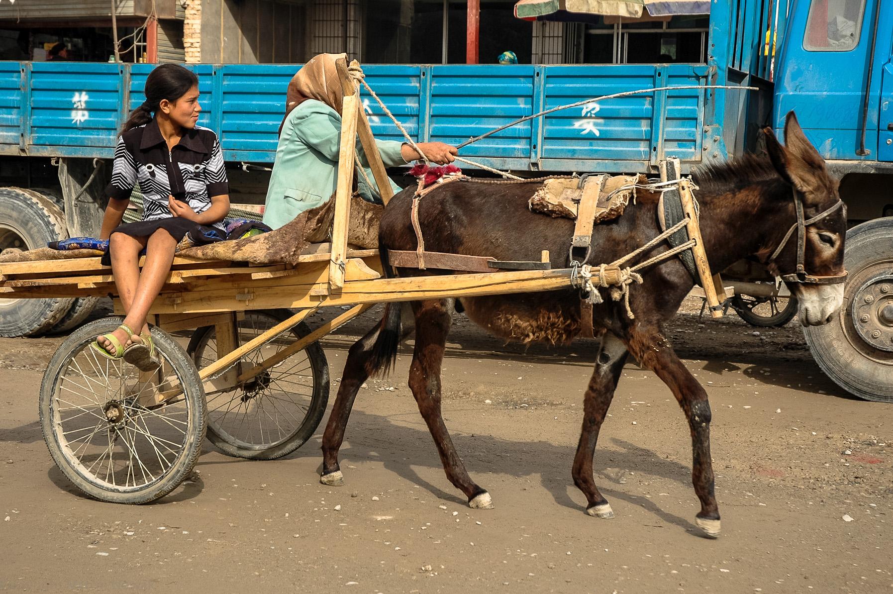 Wózek z osiołkiem