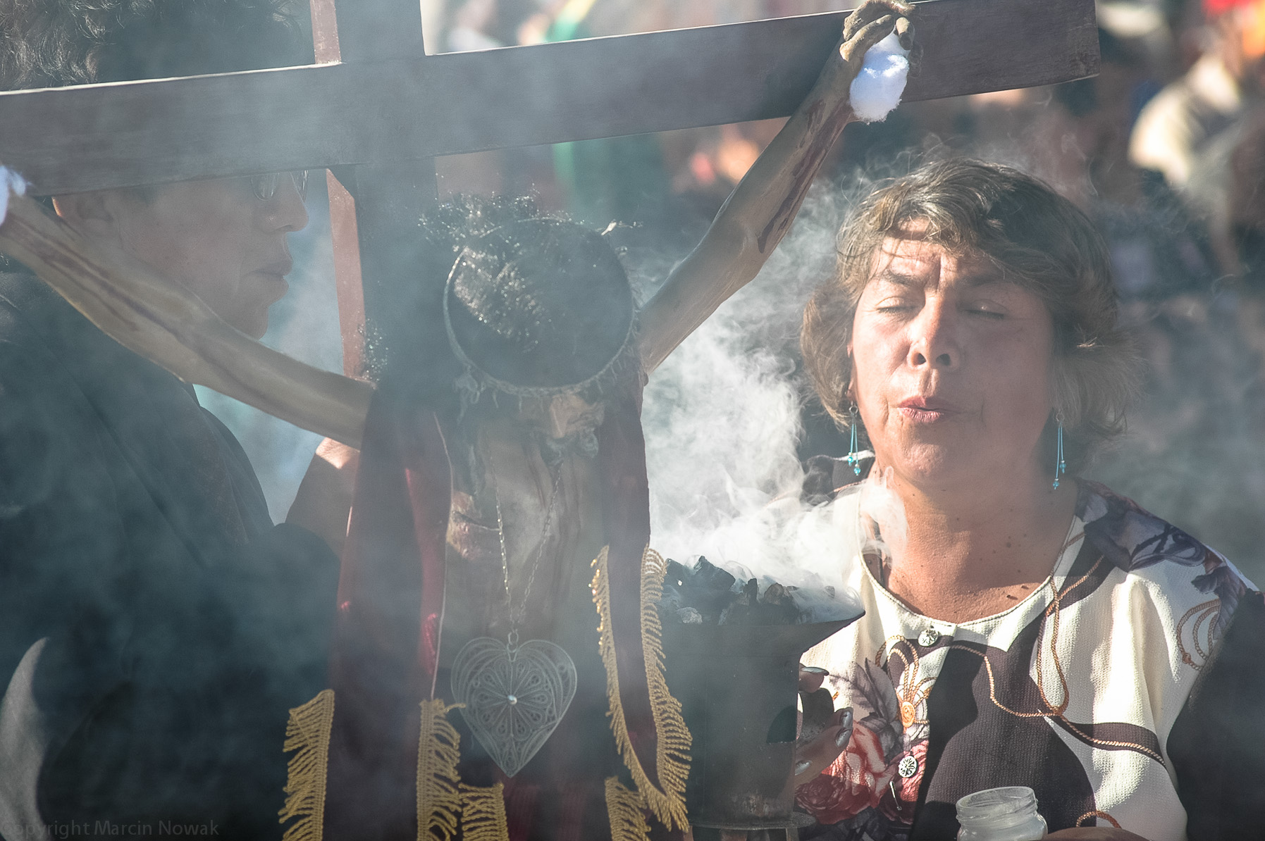 Uczestniczka procesji w Uyunii