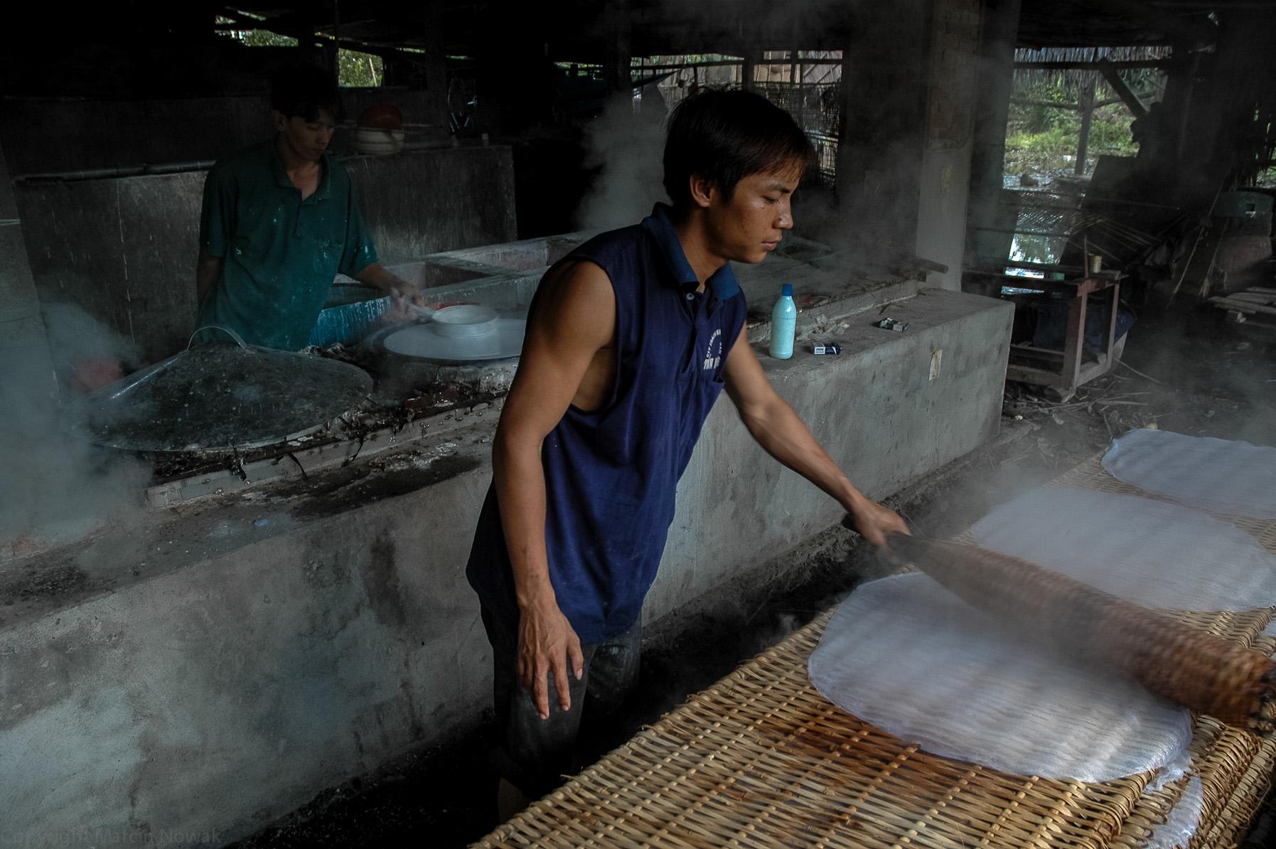 Produkcja makaronu ryżowego