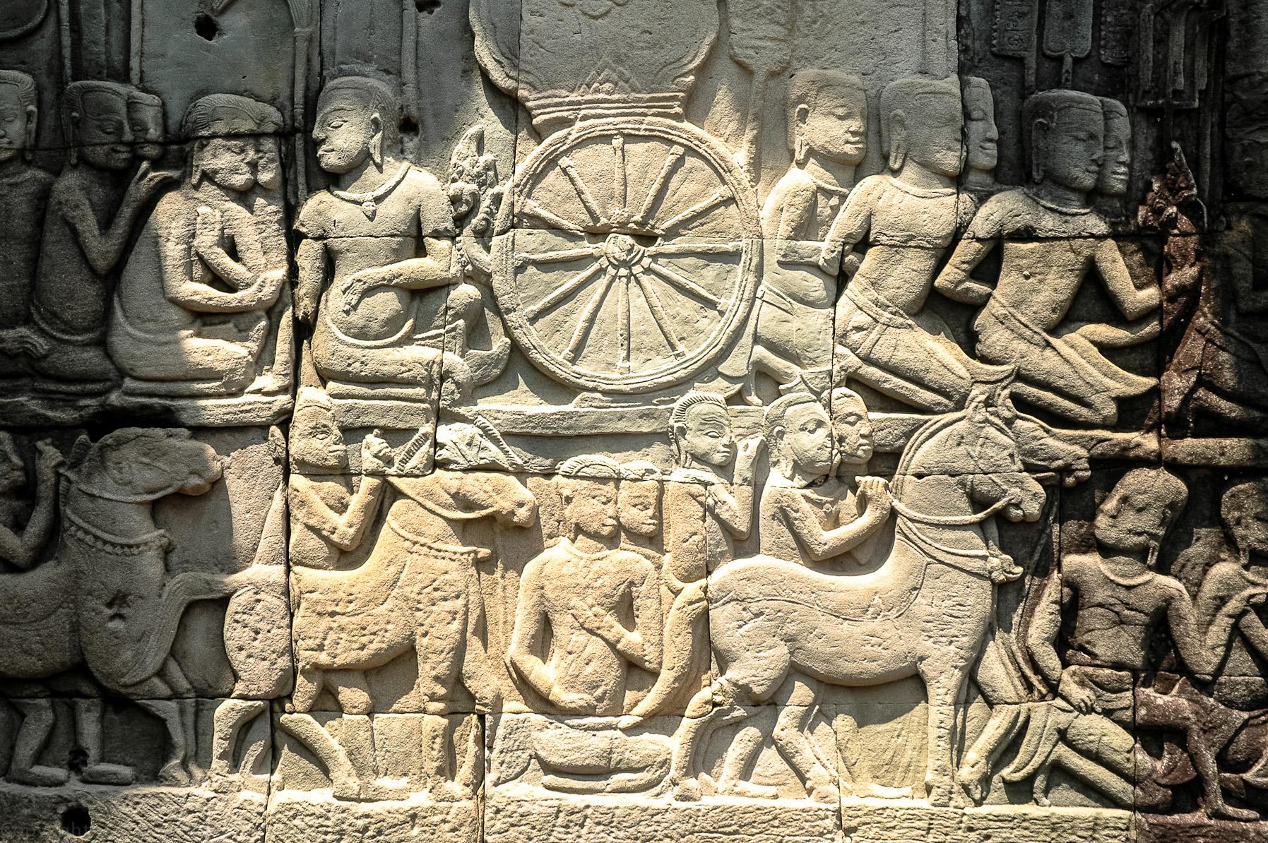 Płaskorzeźba - Angkor